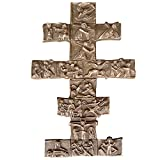 cruz vía crucis 28 cm * 18 cm bronce noble patina marron