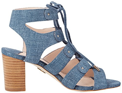 Moda in Pelle Marcio, Sandales Plateforme femme Bleu - Blue (Denim)
