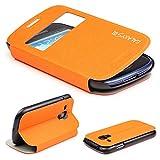 Urcover Galaxy S3 mini Handyhülle Original View Hülle Case für das Samsung Galaxy S3 mini Schutzhülle Schale Etui Cover [DEUTSCHE MARKE] Orange