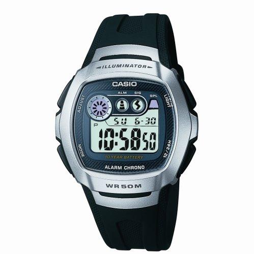 Casio - W-210-1AVES - Montre Homme - Digital - Alarme - Chronographe - Rétro éclairage - Bracelet Noir