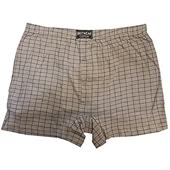 12 x Mens Big Sized Button Fly Jersey Boxer Shorts Natural Cotton Rich Colour:Assorted Pattern / Design Underwear Size:2XL (XXL) (Big King Size XL Extra Large)