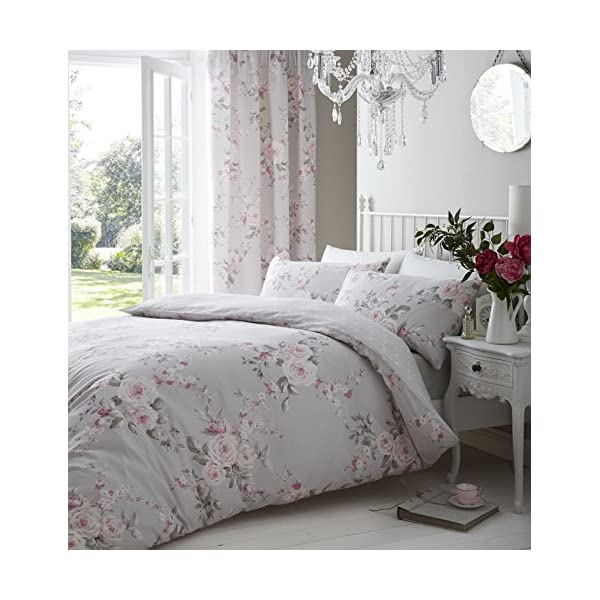 Catherine Lansfield Canterbury Easy Care Single Duvet Set Grey 511p5mpq5bL