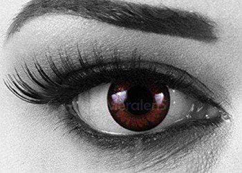 Funnylens 1 Paar farbige Crazy Fun pretty hazel 3 Monats Kontaktlinsen. perfekt zu Halloween, Karneval, Fasching oder Fasnacht mit gratis Kontaktlinsenbehälter ohne Stärke!