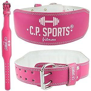 CP Sports Lady Gürtel Leder PINK – Frauen, Damen Gewichthebergürtel – Stützgürtel