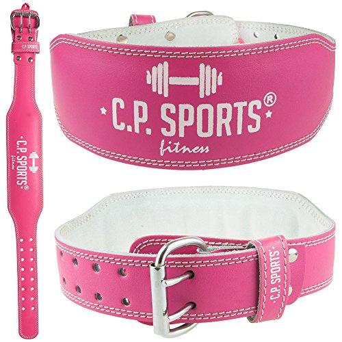 CP Sports Lady Gürtel Leder PINK - Frauen, Damen Gewichthebergürtel - Stützgürtel (S = 64-79cm)