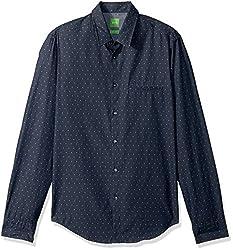 BOSS Green Mens C-Bacchis 10194390 01, Blue, Medium
