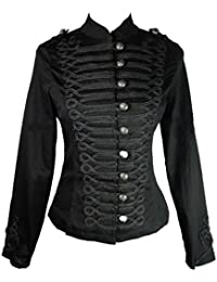 Ro Rox New H&R Women's Steampunk Gothic Parade Jacket