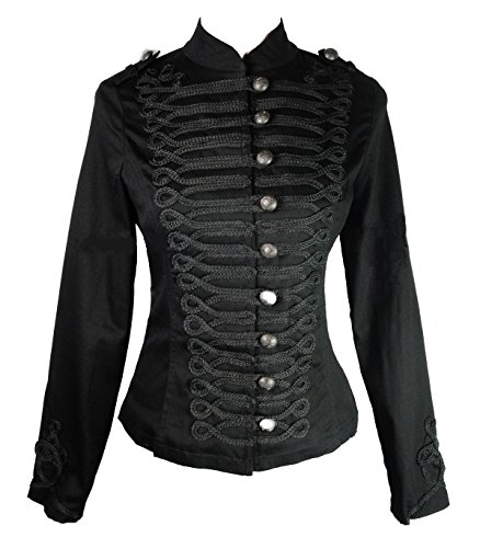 Damen H&R Hearts & Roses Steampunk Dampf Punk Gotik Parade Jacke (UK 8 / EU 34 / US 4)