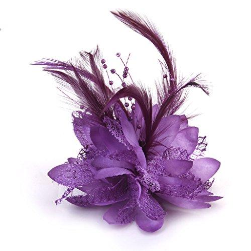 phenovo-elastique-cheveux-broche-bracelet-accessoire-polyvalent-violet