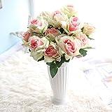 HUHU833 7 Köpfe Rose Künstliche Blumen Sträuße Fake Blume für Dekoration Wohnaccessoires & Deko (Bunt)