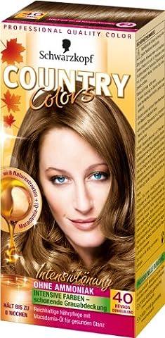 Country Colors Intensivtönung, 40 Nevada Dunkelblond, 3er Pack (3 x 1 Stück)