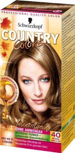 Country Colors Intensivtönung, 40 Nevada Dunkelblond, 3er Pack (3 x 123 ml)