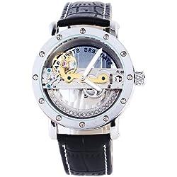 Orrorr Kleid Symphony Aristocrat Br¨¹cke Skeleton Automatic Mechanische schwarzem Zifferblatt Uhr