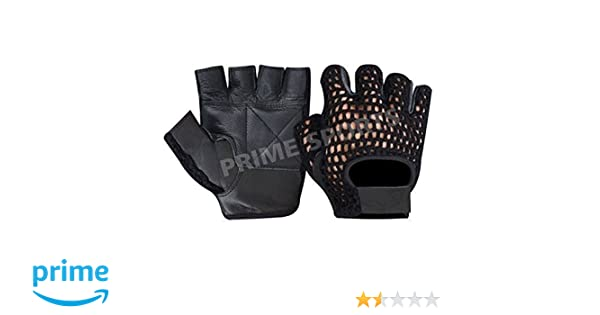 405 PRIME MESH WEIGHT LIFTING PADDED LEATHER GLOVES TRAINING CYCLING GYM BLACK