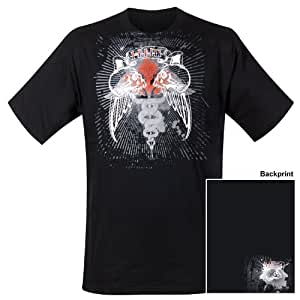 Him - T-Shirt Double Skull (in XL)