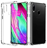 AIFIVE Samsung Galaxy A40 Clear Case, Soft TPU Cover with