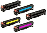 Kit 5 INK INSPIRATION® Toner Compatibili per HP LaserJet Pro Color MFP M476dn, M476dw, M476nw | Sostituzione per HP 312X 312A (CF380X, CF381A, CF382A, CF383A) | Nero: 4.400 Pagine & Ciano/Magenta/Giallo: 2.700 Pagine