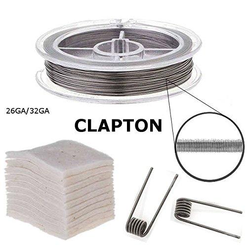 RBA Zubehör, Clapton-Draht auf Rolle + Bio-Baumwolle (Clapton 26/32GA)
