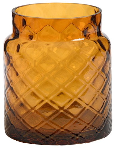 1x Offizielles Yankee Candle Deco Lounge Jacquard Bernstein groß Jar Sleeve Kerzenhalter Dekoration Ornament Glas Zubehör -