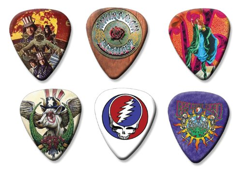 Grateful Dead Set of 6 Loose Gitarre Plektrum Plektron Picks ( Collection C ) (Gitarren Pick Grateful Dead)