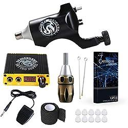 Dragonhawk Tattoo Kit Rotary machine Gun Tattoo Machine Power Supply Cartridge Grip Needles for Tattoo Artist (DML-9)