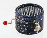 Boîte à musique à manivelle en carton renforcé - Au clair de la lune (traditionnel)