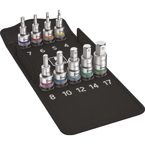 Preisvergleich Produktbild Wera 8740 C HF 1 Bit-Sortiment, Zyklop Bitnuss-Satz Innensechskant mit Haltefunktion, 05004201001