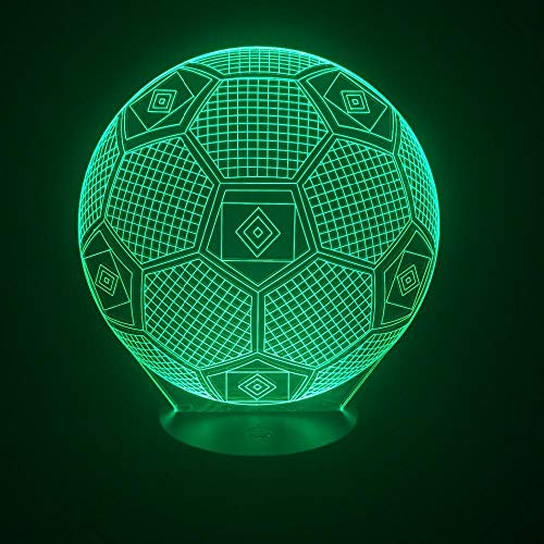 CMHSZTED Luz nocturna Lámpara Usb 3D Luz VisualDormitorio Lámpara Nocturna 7 Colores Cambiar Ilusión Lámpara Regalos De Halloween
