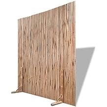 vidaXL Panel de Valla de Bambú Marrón 180x180 cm Separador de Espacios Jardín