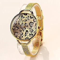 77 Fashion Hot Luxury Fashion Stainless Steel Gold Watch Wristwatch Quartz Watch Leopard Grain Electronics Classic Watch XR504