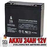 SIGA Batterien AGM Phaeton Deep Cycle schwarz