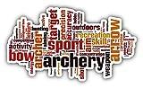 Archery Sport Word Cloud Hochwertigen Auto-Autoaufkleber 15 x 8 cm