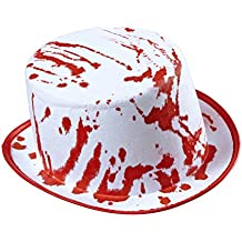 Amakando Sombrero Zombie Sombrero de Copa Halloween ensangrentado Gorra de  Caballero enterrador Accesorio Disfraz Muerto Viviente 46ef3b4880f