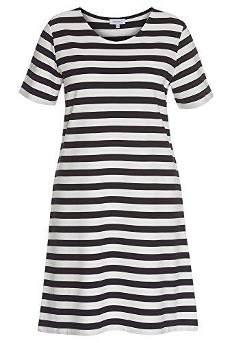 PEPPERMINT Plus Size - Kleid aus festem Jersey - Damen T-Shirt,Sommer,gestreift,kurzarm,Große Größen (Plus Mint Kleid Size)