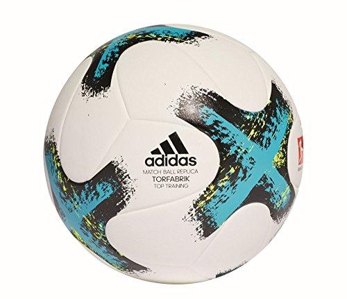 adidas Torfabriktrain Spielball Fußball, White/Eneblu/Black/Sy, 4