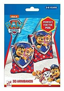 Sambro PWP15-3394 - Manguitos con Efecto 3D Paw Patrol Chase y Skye, para niños de 3 a 6 años, con válvula de Seguridad, Ideal para Piscina, Playa y Piscina