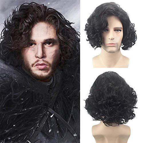 rücke Recht Spiel Jon Snow Jon Shirley Cos Männer Kurze Haare ()