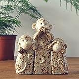 GODRI Affe Ornamente Keramik/Drei Kleine Affen Ornamente/Wohnzimmer TV Schränke Eingerichtet/Geschenke Gesetzt