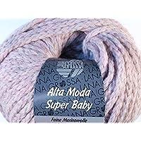 Lana Grossa Alta Moda Superbaby Color Fb.306 grau//orange//rosa 50g Wolle Kreativ