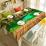 TopinG Customizable 3D Tablecloth Sunflower Tree Pattern Christmas Washable Thicken Rectangular And Round Table Cloth for Wedding-F,W 150 * H 230