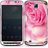 Samsung Galaxy S4 Active Case Skin Sticker aus Vinyl-Folie Aufkleber Rose Rosenblätter Pink