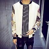 Spritech (TM) Hombre comodidad outcoat de otoño cuello Casual para hombre, Blanco, xx-large