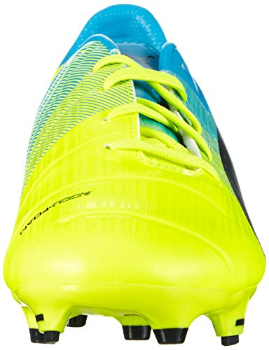 Puma evoPOWER 1 3 Firm Ground Jr  Unisex Kids  Football Training Shoes  Yellow  Yellow Black Blue   4 UK  37 EU