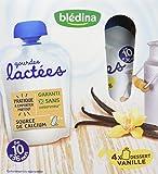 Blédina Gourdes Lactées Dessert Vanille de 10 à 36 mois 4 x 90 g - Pack de 6
