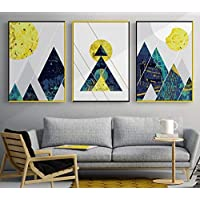 Tanyang Nordic Abstract Lines Geometric Mountains Print Picture Wall Art Canvas Paintings Decoration for Children Room Unframed