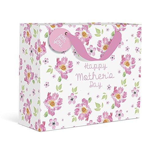 Mother 's Day Pink Floral Medium Geschenk Tüte