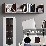 Mensola Porta CD, DVD - da Parete o Terra, Archivazione di 80 CD, 4 Ripiani, 17x92x16,5 cm, Colore a Scelta - Libreria Orizzontale, Scaffale CD, Mobile DVD