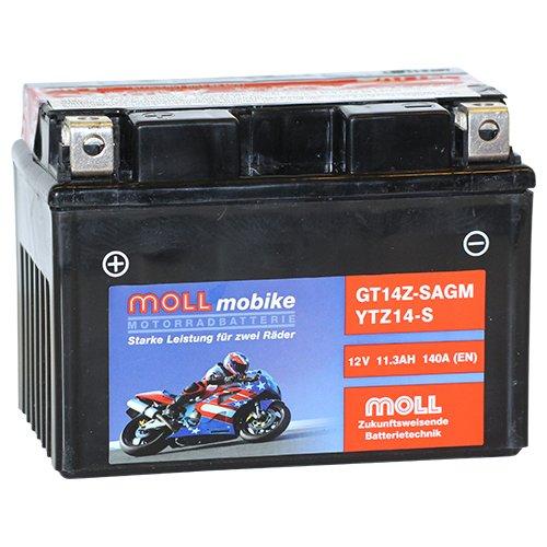 Moll mobike AGM Motorradbatterie YTZ14-S 11Ah 12V 140A - GT14Z-S