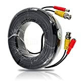 KKmoon 30M / 98.4 Feet BNC Video Power Cable For CCTV Camera DVR Security System (30M)