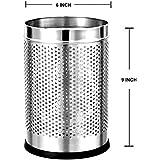 Mochen Stainless Steel Perforated Open Dustbin/Stainless Steel Garbage Bin/ - 6 Litre
